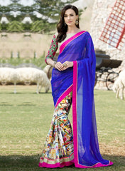 Purple Color Georgette Festival & Function Wear Sarees : Nikara Collection  YF-41120