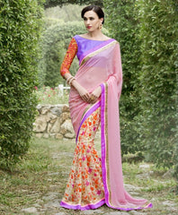 Pink Color Georgette Festival & Function Wear Sarees : Nikara Collection  YF-41126