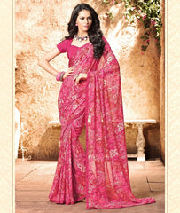 Pink Color Georgette Kitty Party Sarees : Madhurima Collection  YF-47848