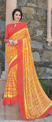 Yellow Color Georgette Kitty Party Sarees : Anurupika Collection  YF-47826