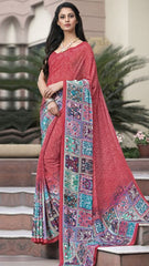 Gajjaria Color Crepe Kitty Party Sarees : Atriksha Collection  YF-49500