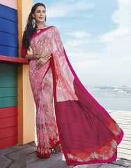 Pink Color Georgette Casual Party Sarees : Samiha Collection  YF-50848