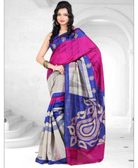 Pink & Purple Color Bhagalpuri Regular Wear Sarees : Yashvi Collection  YF-28381