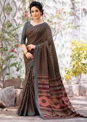Black Color Pashmina Silk Designer Party Wear Sarees(With Stole) : Teej Collection  YF-55154