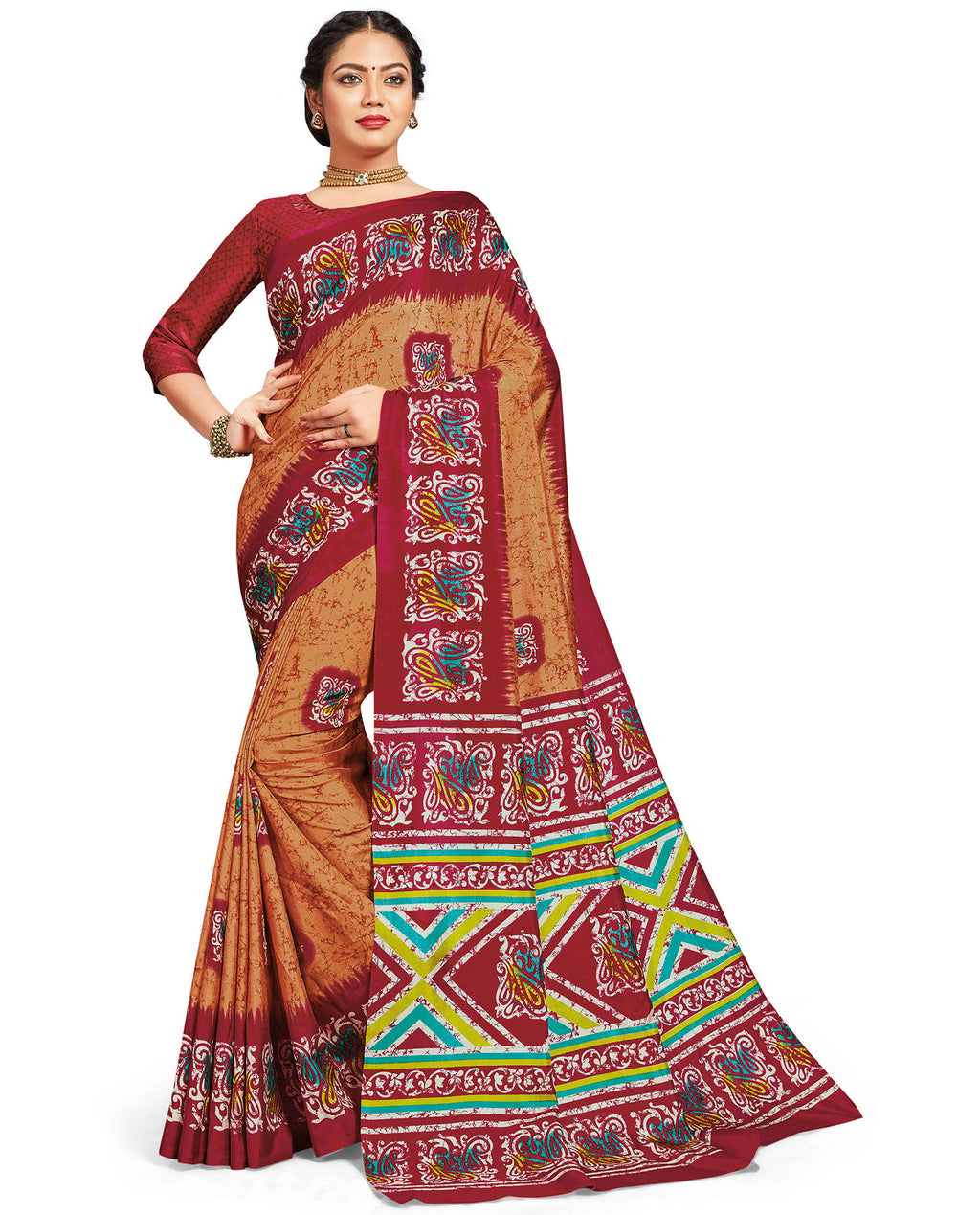 Multi Color Crepe Daily Wear Printed Sarees NYF-7795