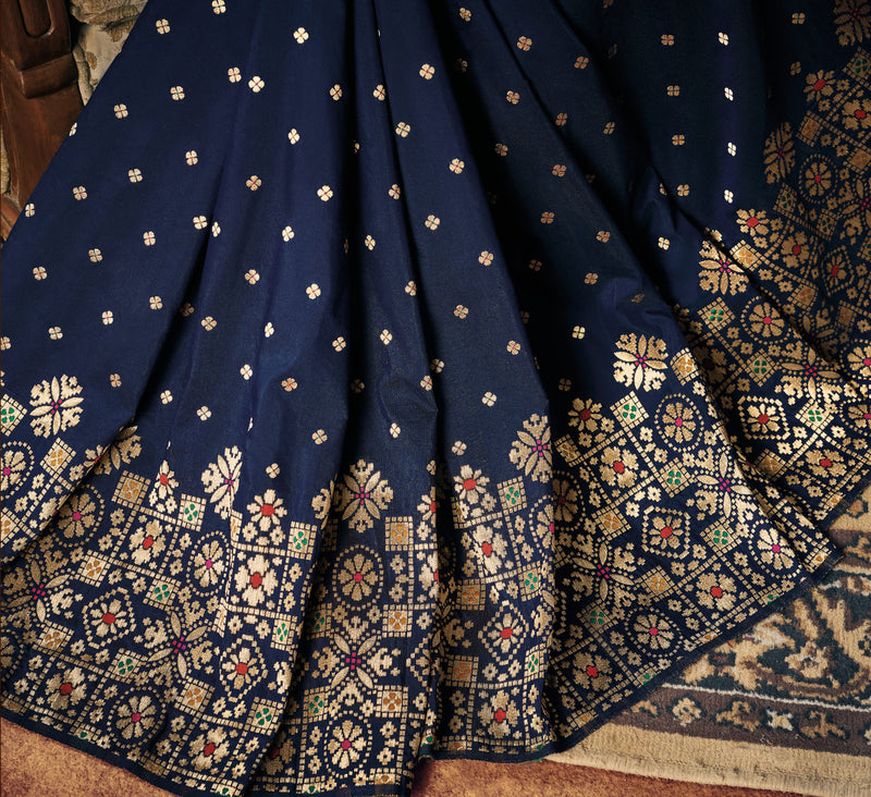 Blue Color Two Tone Silk Gorgeous Festive Sarees NYF-5583
