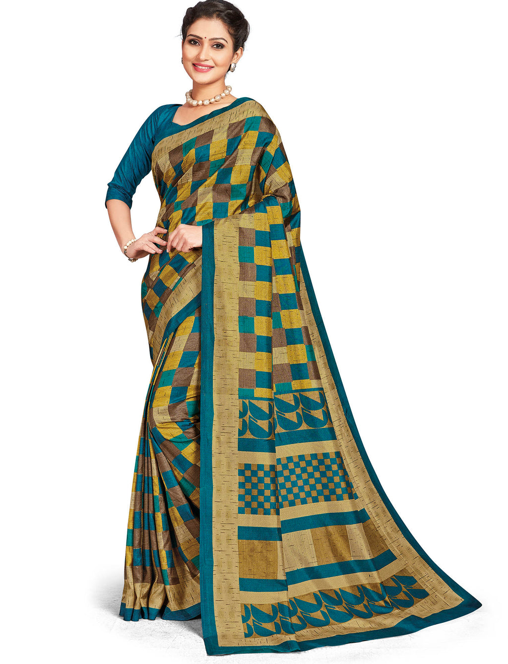 Multi Color Crepe Daily Wear Printed Sarees NYF-7809
