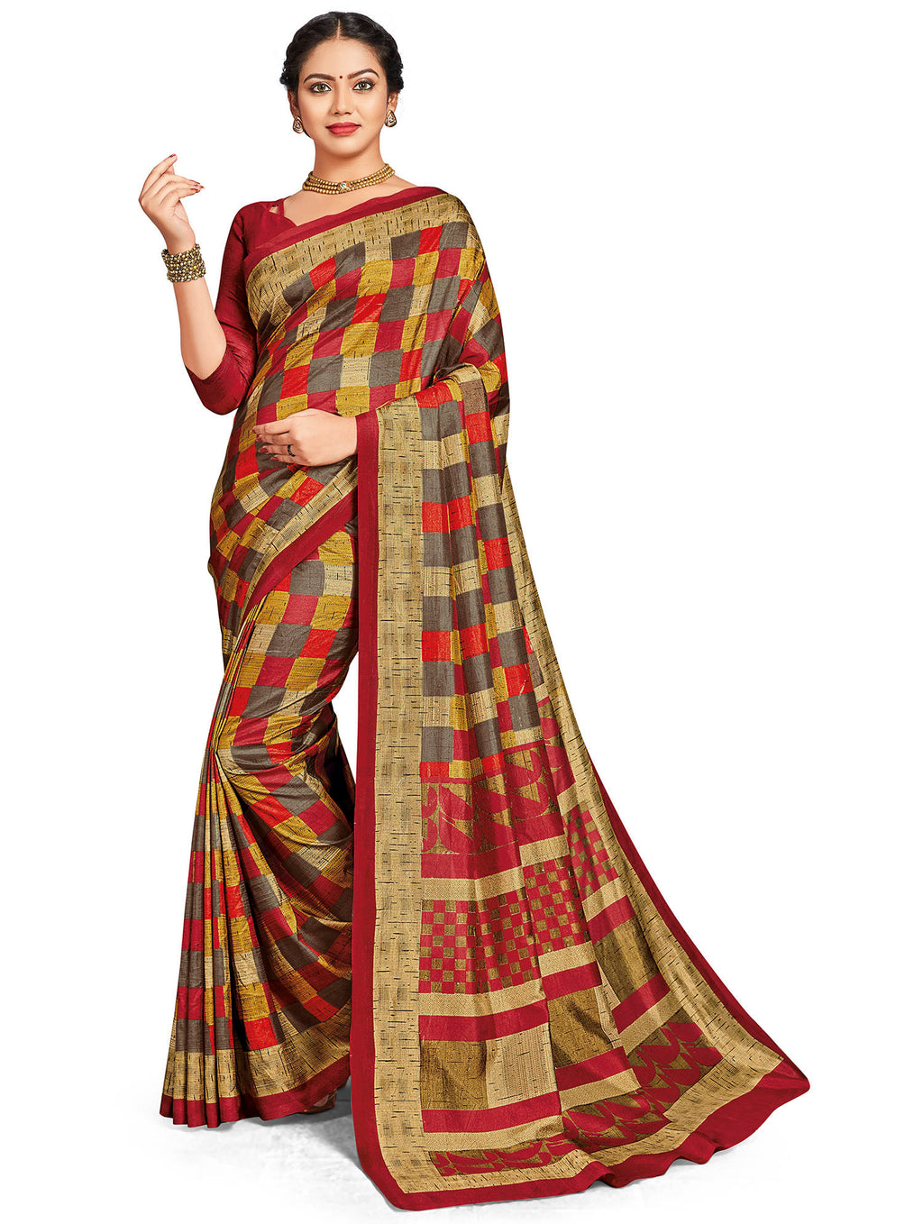 Multi Color Crepe Daily Wear Printed Sarees NYF-7810