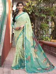 Shades Of Green Color Georgette Casual Party Sarees : Vrushti Collection  YF-54818
