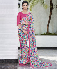 Multi Color Georgette Casual Wear Sarees : Vibhavna Collection  YF-52833