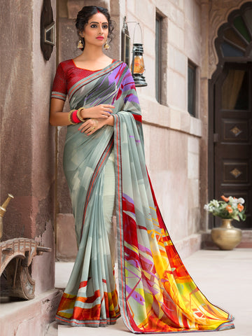 Multi Color Georgette Casual Party  Sarees : Arshvi Collection  YF-56742