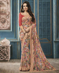 Yellow Color Georgette Party Wear Sarees : Riona Collection  YF-50572
