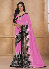 Pink Color Georgette Casual Wear Sarees : Gargi Collection  YF-46392