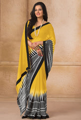 Yellow Color Georgette Casual Wear Sarees : Gargi Collection  YF-46393