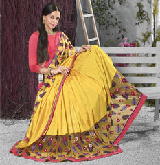 Yellow Color Georgette Designer Festive Sarees : Shairti Collection  YF-46872