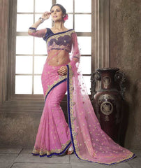 Pink Color Net Function & Party Wear Sarees : Vaidehi Collection  YF-32142