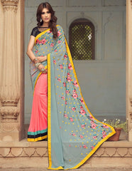 Pink Color Georgette Party Wear Sarees : Sushriya Collection  YF-48957