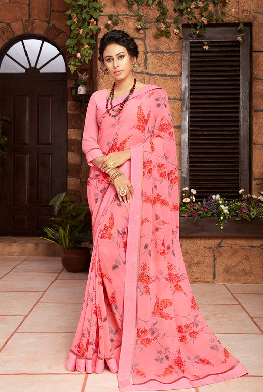 Pink Color Georgette Kitty party wear Shravya Collection   YF#11659