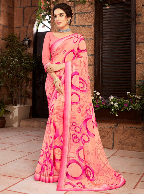 Light and Dark Pink Color Georgette Kitty party wear Shravya Collection   YF#11667