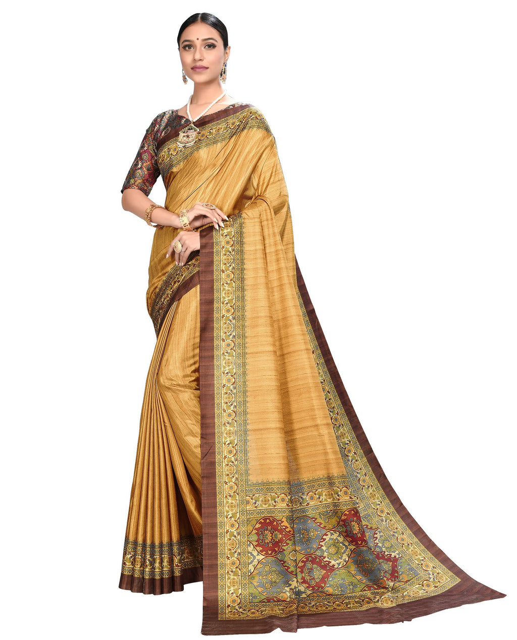 Yellow Color Dola Silk Festive Wear Digital Print Sarees NYF-7746