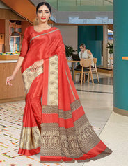 Pink & Red Color Bhagaluri Daily Wear Sarees : Anjusha Collection  YF-46753
