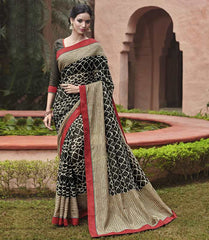 Black Color Bhagalpuri Casual Party Sarees : Mineri Collection  YF-49924