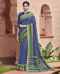 Blue Color Bhagalpuri Casual Party Sarees : Mineri Collection  YF-49926