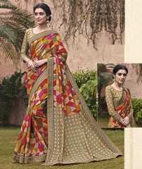 Multi Color Bhagalpuri Casual Party Sarees : Mineri Collection  YF-49930
