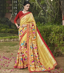 Yellow Color Bhagalpuri Casual Party Sarees : Mineri Collection  YF-49931