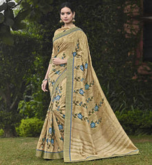 Light Coffee Color Bhagalpuri Casual Party Sarees : Mineri Collection  YF-49937