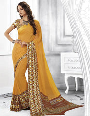 Yellow Color Georgette Casual Party Sarees : Shivalika Collection  YF-52680