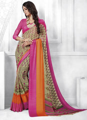 Pastel Green Color Georgette Casual Party Sarees : Shivalika Collection  YF-52690