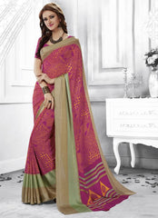 Pink Color Georgette Casual Party Sarees : Shivalika Collection  YF-52692