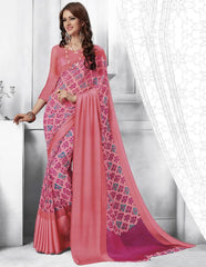 Pink Color Georgette Casual Party Sarees : Shivalika Collection  YF-52694