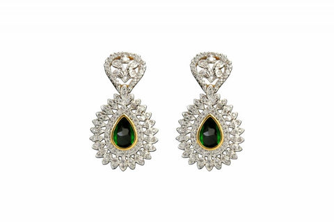 Earring   Fine CZ (Cubic Zerconia) Jewellery   : Ethnic Fashion Collection -  YF-9315