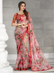 Pink Color Georgette Casual Party Sarees : Kiyara Collection  YF-49922
