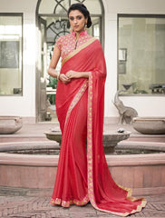 Gajjaria Color Jacquard Crepe Festive & Party Wear Sarees : Priansh Collection  YF-49551