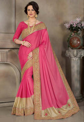 Pink Color Crepe Trendy Designer Sarees : Raivath Collection  YF-50144