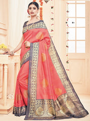 Gajjariya Color Bhagalpuri Casual Party Sarees : Prinat Collection  YF-51872