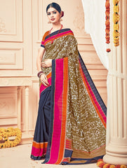 Blue Color Bhagalpuri Casual Party Sarees : Prinat Collection  YF-51903