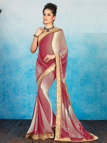 Pink Color Georgette Casual Party Sarees : Ashiya Collection  YF-43997