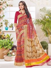 Multi Color Bhagalpuri Festival & Party Wear Sarees : Palkin Collection  YF-55547