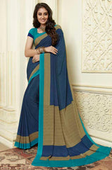 Blue Color Crepe Party Wear Sarees : Amrusha Collection  YF-55251