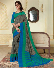 Black Color Crepe Party Wear Sarees : Amrusha Collection  YF-55261