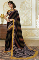 Black Color Crepe Party Wear Sarees : Amrusha Collection  YF-55282
