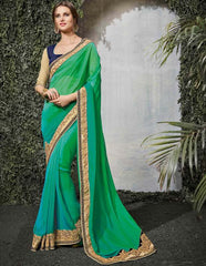 Green Color Silk Wedding Function Sarees : Siakshi Collection  YF-45652