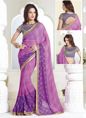 Pink Color Georgette Casual Party Sarees : Amrit Collection  YF-30193