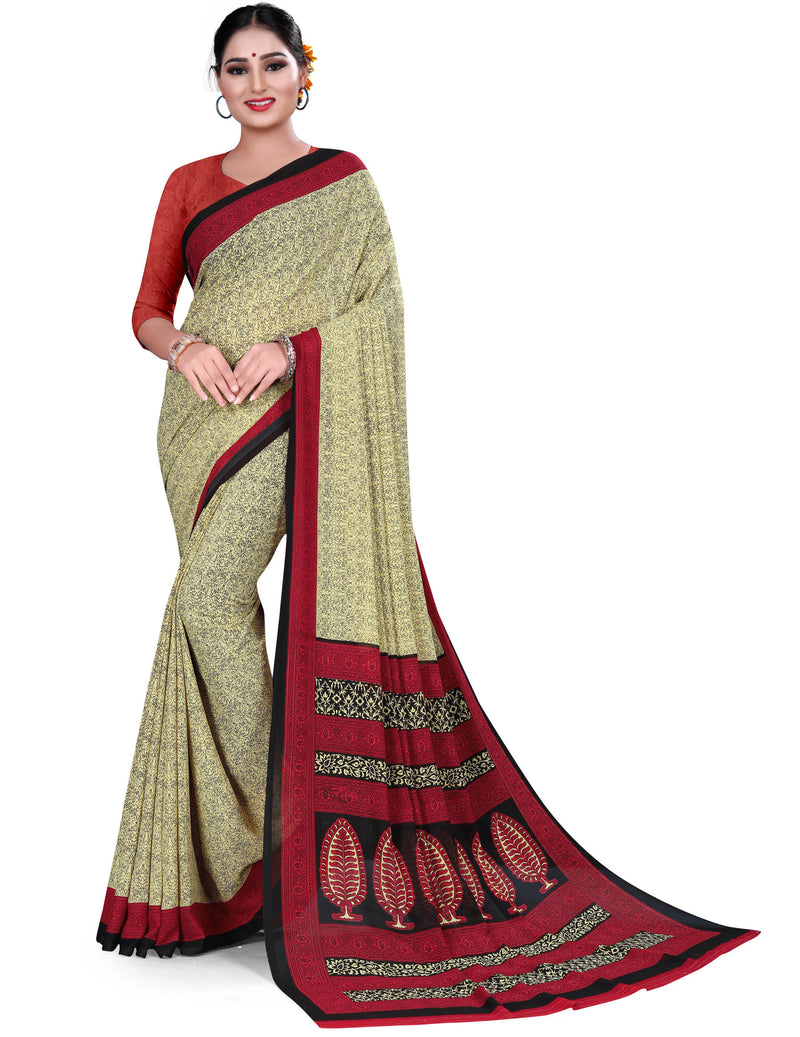 Multi Color Crepe Chiffon Daily Wear Printed Sarees NYF-7786