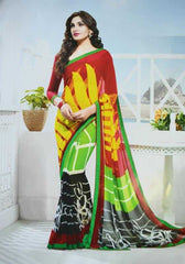 Multi Color Georgette Casual Sarees : Viviana Collection  YF-22401