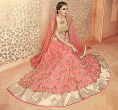 Pink  Color Net Lehenga For Wedding Functions : Parimita Collection  YF-48132